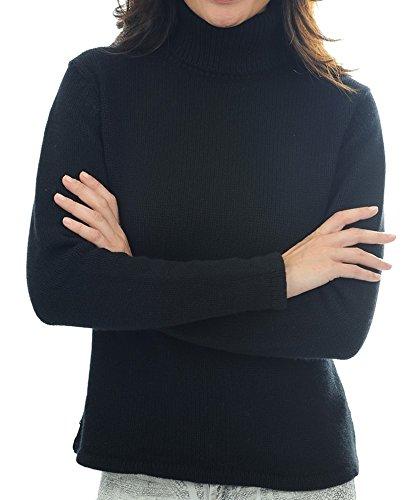 Balldiri 100% Cashmere Kaschmir Damen Rollkragenpullover 8-fädig schwarz XXL