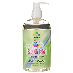 Rainbow Research Baby Oh,Body Wash Unscented 16 oz