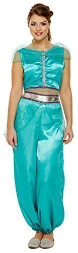 Ladies Jasmine Arabian Princess Belly Dancer Fancy Dress Costume Outfit 8-12 by Henbrandt]()