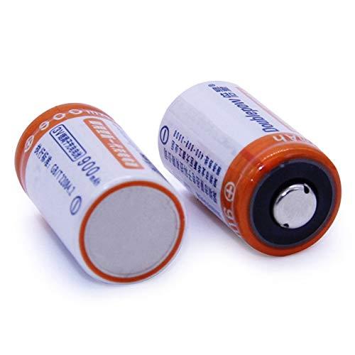 Ballylelly 2pcs / Lot 900mAh CR2 Batería Recargable Set Batería de ...