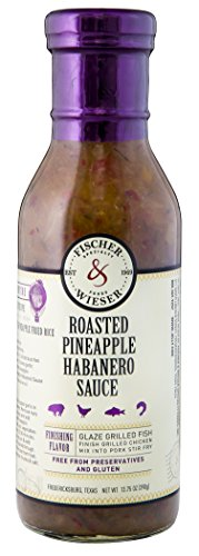 - Fischer & Wieser Roasted Pineapple Habanero Sauce, 13.75 Ounce, 6 Count