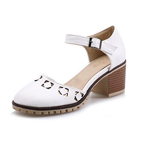 AdeeSu Femme Sandales Blanc SLC04068 Compensées FYFXqwAU
