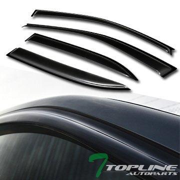 Topline Autopart Smoke Window Visors Deflector Vent Shade Guard 4 Pieces For 03-08 Toyota Corolla