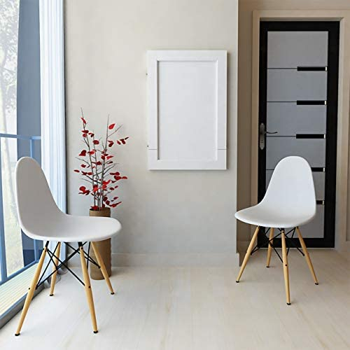 FXYY Wall-mounted Drop-leaf Table, Folding Kitchen & Dining Table Breakfast Bar Table Desk Wall Hanging Coffee Bar Wall-Mounted Side Table, White