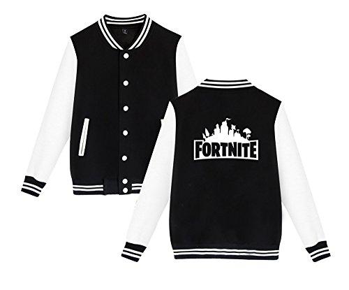Fortnite Aivosen Leggera Giacca Unisex Moda Black6 Casual Sweatshirts E Uomini Stampate Allentato Da Comode Per Baseball Donne w4fqR