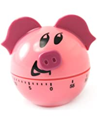 Take 1 X Plastic Pig Shape 60 Minute Kitchen Cook Cooking Timer Pink save