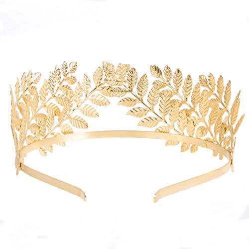 RIVERTREE Greek Goddess Headband Costumes Gold Leaf Branch Crown Hair Accessory Bridal Wedding Headpiece -