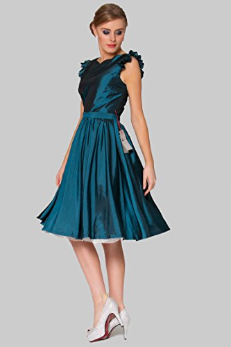 SEXYHER Ladies 1950's Vintage Style Petal Sleeve With Ruched Detail Classic Dress Photo #4