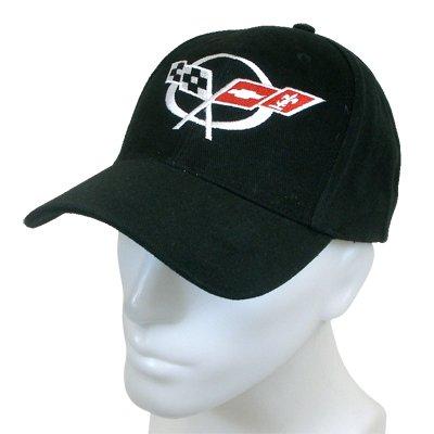 Corvette C5 Logo Black Baseball -