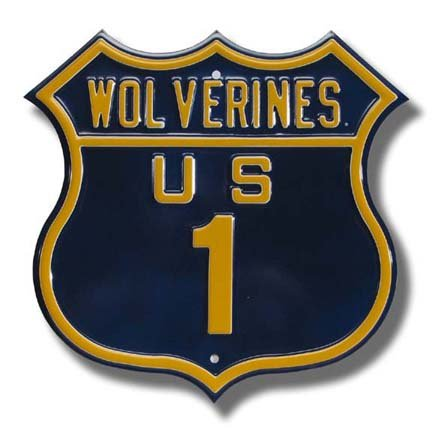 Authentic Street Signs Steel Route Sign: WOVERINES US 1