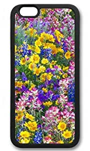 Bright Flowers Customized Rubber Black iphone 6 plus Case By Custom Service Your Perfect Choice