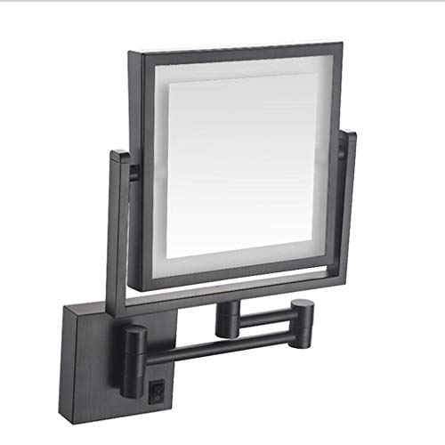 CUUYQ Makeup/Vanity Mirror with Lights, Two-Sided 3X Magnification Makeup Mirror 360° Swivel -