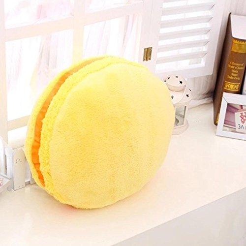 Square Body Pillow,Highpot® Throw Macarons Pillow Cushion Plush Naps Hand Warmer Toy,Not a warm hand pockets (Yellow)