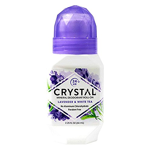 Crystal Deodorant Essence Roll-On 2.25oz Lavender/White Tea (6 Pack)