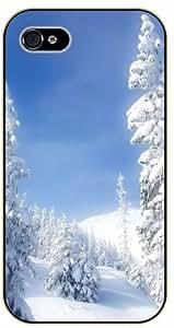iPhone 5 / 5s Heavy snow mountains - black plastic case / Nature, Animals, Places Series