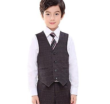 de194816d8c07 Amazon.co.jp: 英国風紳士スーツ 大人っぽい キッズ ジュニア チェック ...