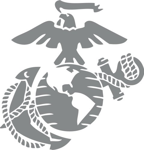 Marine Corps - Eagle Globe & Anchor SILVER METALLIC USMC Car Decal Window Stickers (Anchor Car Window Decal compare prices)