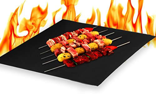Heavy Duty Non Stick BBQ Grills Baking Cooking Mats (Set of 2) 16