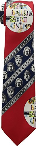 Versace  Men's Printed Tie Red One Size by Versace