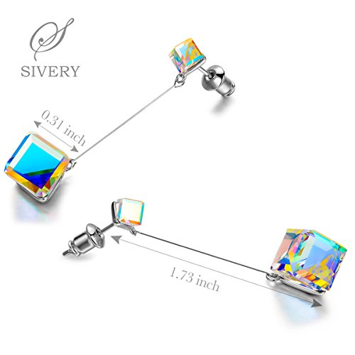 SIVERY-Infinity-Love-Dangle-Earrings-with-Blue-Swarovski-Crystals-Jewelry-for-Women-Gifts-for-Mom