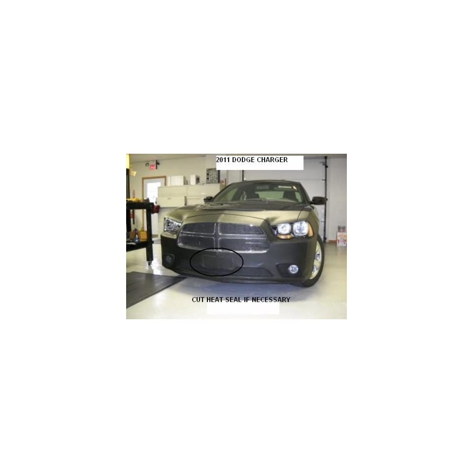 Lebra 2 piece Front End Cover Black   Car Mask Bra   Fits   DODGE CHARGER 2011 2013 Except SRT8