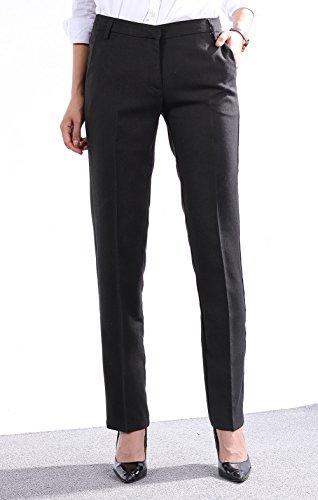 Zealmer Women's Wear To Work Slim Dress Pants 40 Black (Women Dress Pants For Work compare prices)