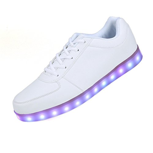 SAGUARO 8 Colors LED Light-Up Couple Women's Men's Sport Shoes Sneakers USB Charging for Valentine's Day Christmas Halloween US Size 9.5
