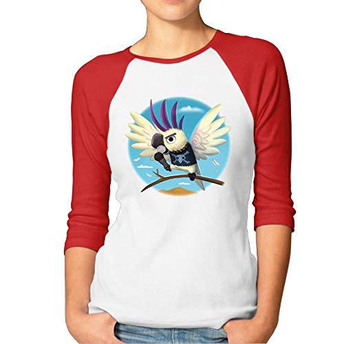Shenigon Women's Singing Parrot 3/4 Sleeve Baseball Tee Raglan T-Shirts XL ()