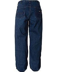 Berne Men's Big-Tall Flame Resistant Jean, Stone Washed Denim Dark, 44x30