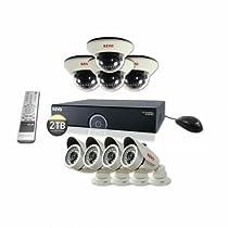 REVO America R165D4IB4I-2T 16 CH 2 TB 960H DVR Surveillance System with 8 1200TVL 100-Feet Night Vision Cameras (Black)