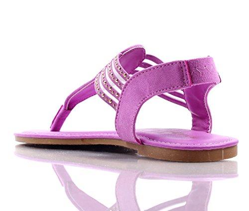 Bambu Mode Slip På Bara Stil Blinkslingbacks Lägenheter Kvinna Tillfälliga Sandaler Skor Nya Utan Box Orkidé