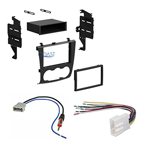 2007 2008 2009 2010 2011 Nissan Altima Single or Double Din Dash Kit Install Wire Harness & Antenna by Xscorpion