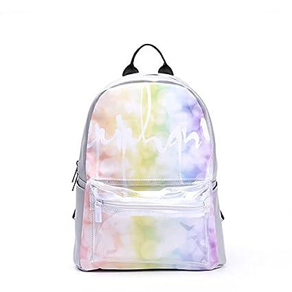 BOAOGOS Laptop Mochilas Casual Día Mochila Escolar claras Pocket Light Color Mochila Flores para adolescente Chica
