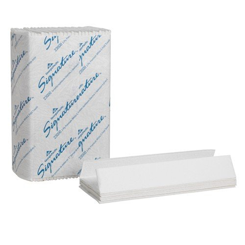 Georgia Pacific Professional Two-Ply Premium C-Fold Paper Towels, 10 1/10 x 13 1/5, White, 120/Pack - 12 packs of 120 towels each.