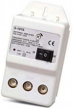 Edc - Amplificador interior antena tv regulable . 2 x 20 db ...
