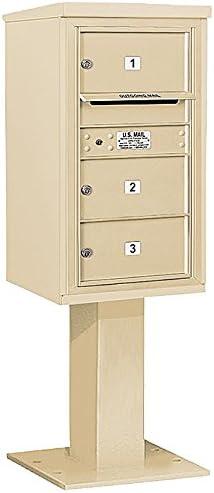 Salsbury Industries 3416S-09SAN 4C Pedestal Mailbox Sandstone