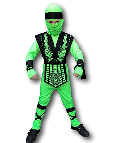 Black Ninja Girl Costumes - Rubber Johnnies Grasshopper Ninja Costume, Kids,