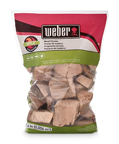 Weber 17139 Apple Wood Chunks, 350 cu. in. (0.006 Cubic Meter) (Best Way To Light A Log Burner)