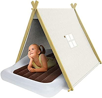 Amazon Com The Shrunks Izzy Foldable Teepee Play Tent With Carrying Bag For Toddler White Baby
