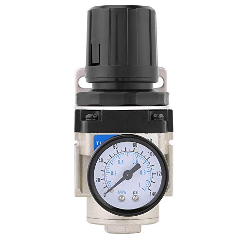 (1pc Pneumatic Pressure Regulator Valve 1Mpa High Pressure Pressure Gauge Air Pneumatic Regulator G3/8 Thread with Holder)