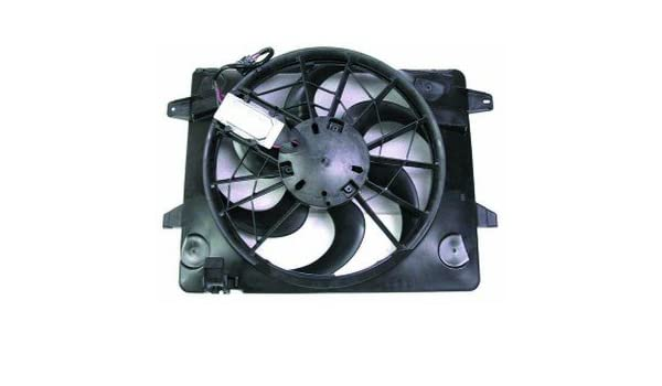 QP FC071-b Mercury Grand Marquis Replacement AC A//C Condenser Radiator Cooling Fan//Shroud Assembly