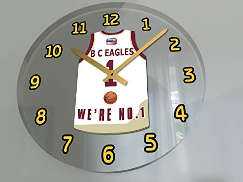 FanPlastic College Basketball USA - We're Number ONE College Hoops Wall Clocks - Support Your Team !!! (Boston College Eagles)