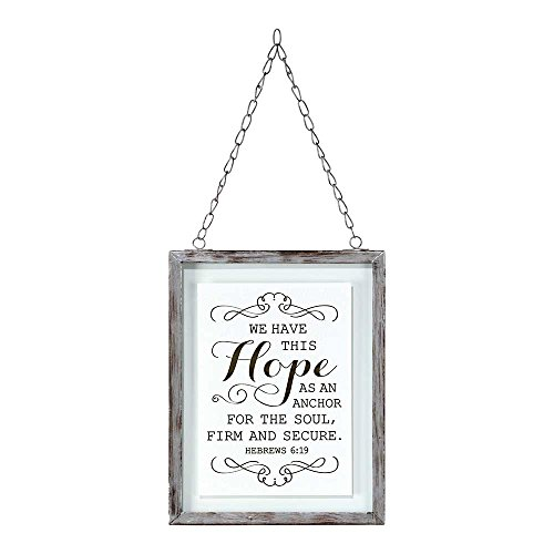 We Have This Hope 7 x 5 Framed Glass Wall Art (Glass Wall Art Framed)