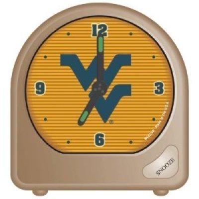 WinCraft NCAA West Virginia University Alarm Clock, Black