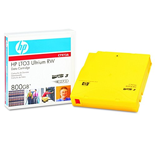 HP C7973A LTO3 Ultrium 800G 120 MB/sec Compressed Transfer Rate Ultrium RW Data Cartridge by HP