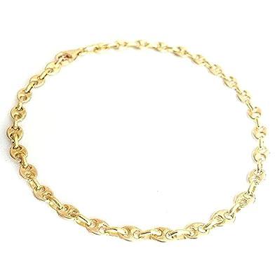 design de qualité 8aad9 65fdb Bracelet GRAIN DE CAFE Hollow 3.3 mm 18.0 cm gold 750/1000 ...