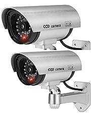 BW 2 stks 1100S Thuis Outdoor Indoor Dummy Camera Nep Camera Beveiliging Surveillance Dummy CCTV Camera Zilver