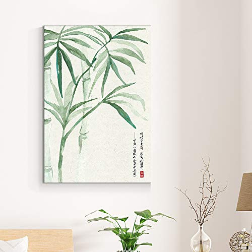 Chinese Ink Painting Style Green Bamboos