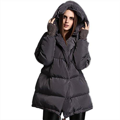 Windproof Type Keep Hood Jacket Thickening Ladies Down Coat Overcoat Gray Outwear Loose Cotton Short Women's Winter OxBfw7UW6q