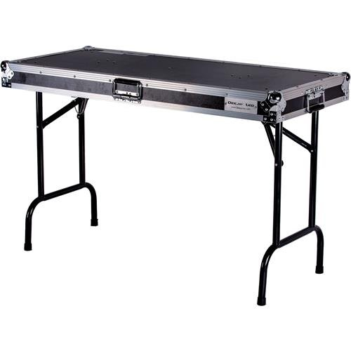48' Solid Steel - Flight Case Universal Fold Out Dj Table In 48'' Wx21dx30